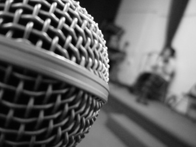 Step up to the microphone