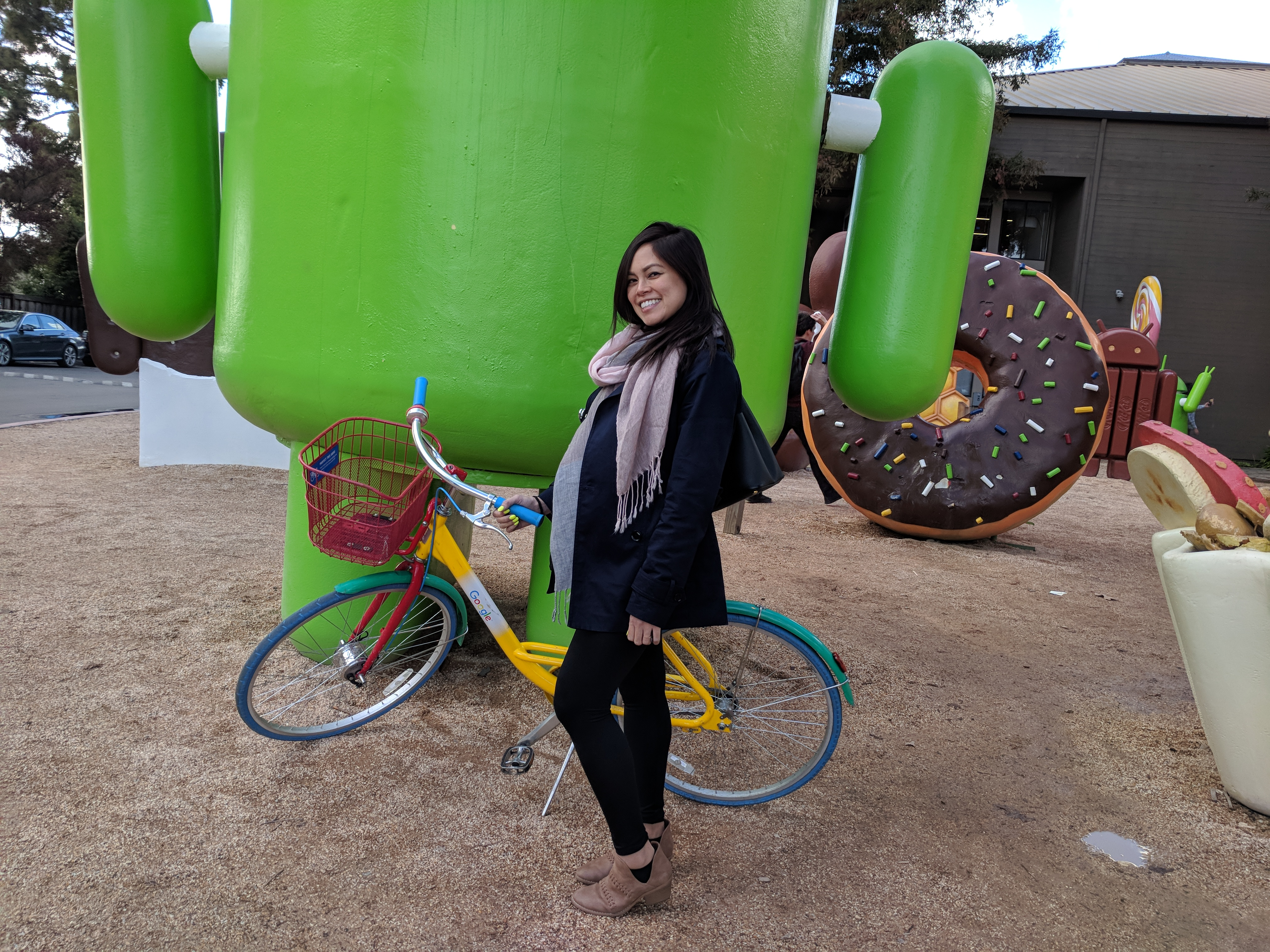 Yvonne Gando and a bicycle