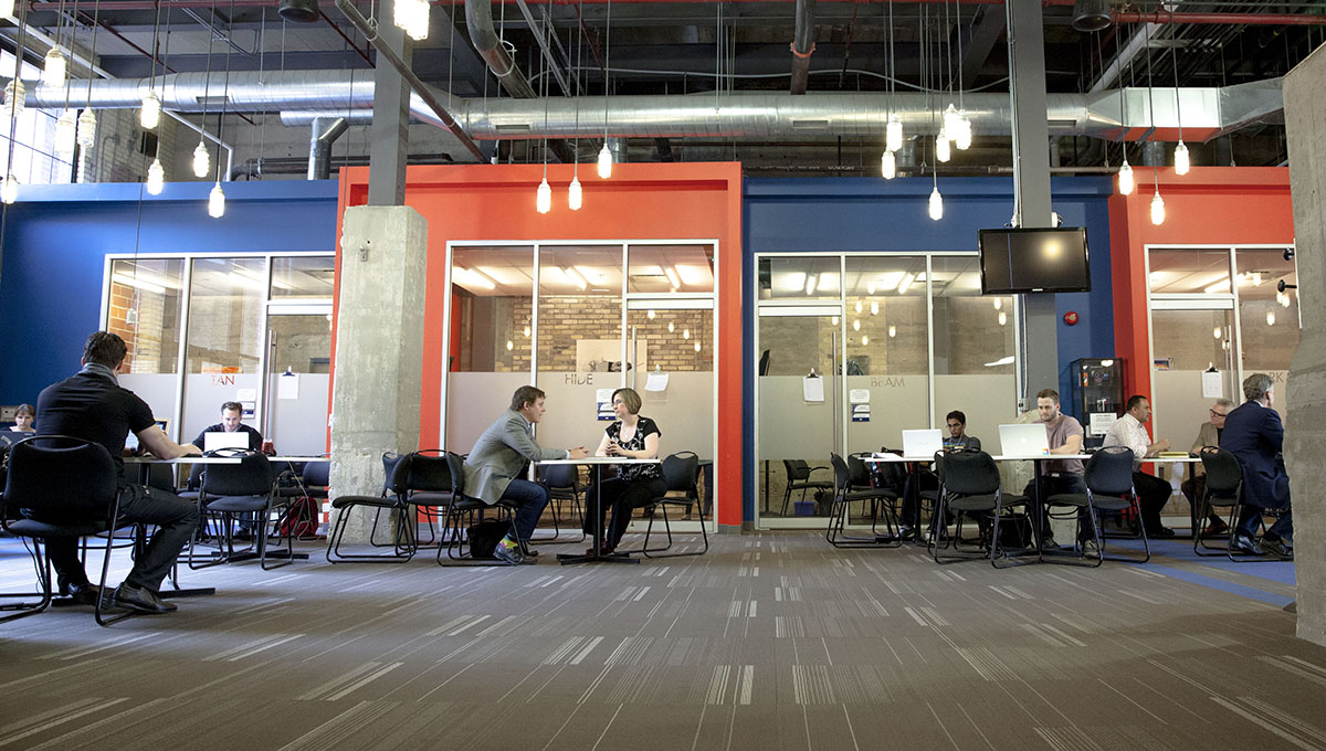 Interior shot of the Communitech offices