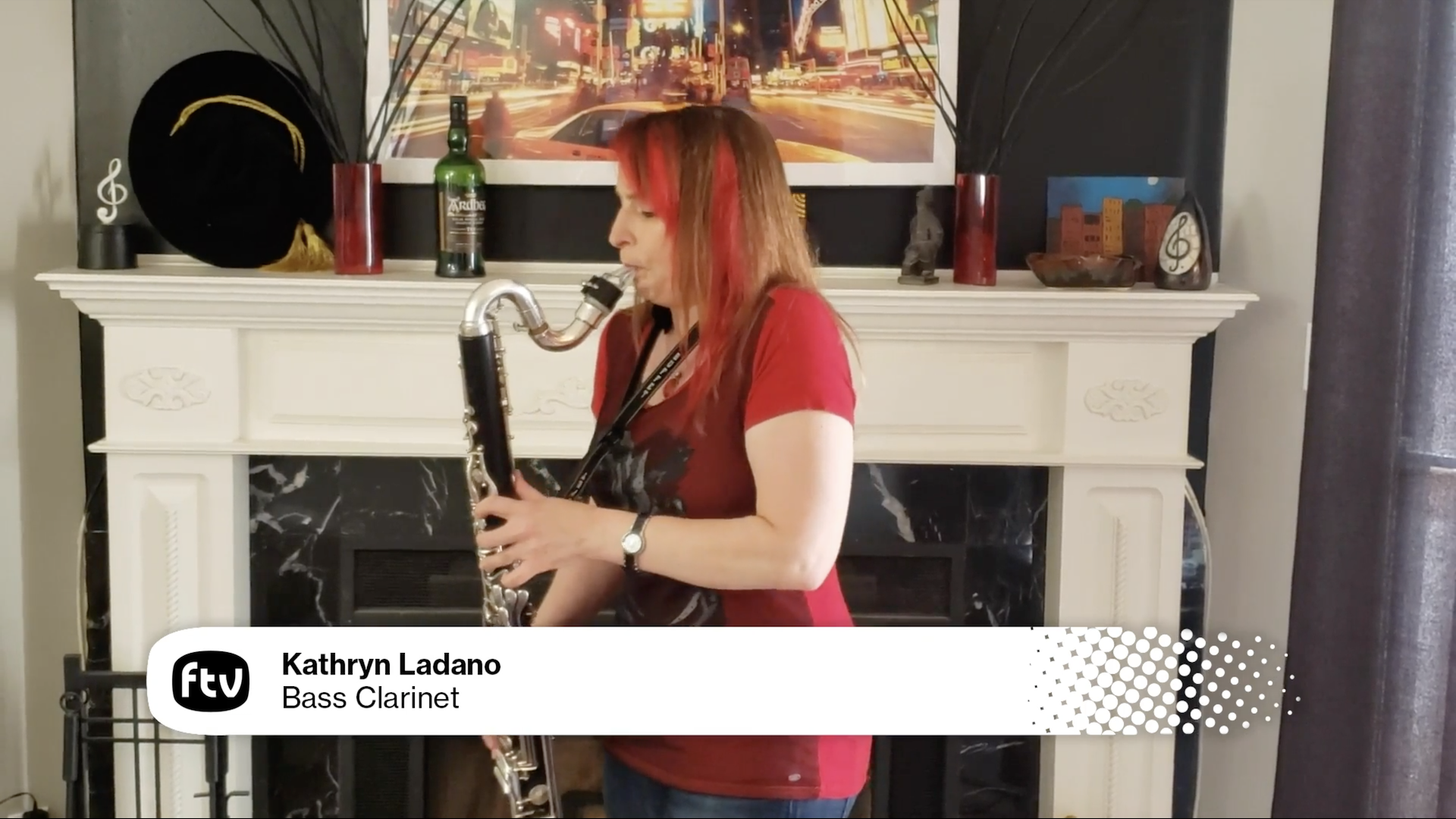 Kathryn Ladano plays bass clarinet