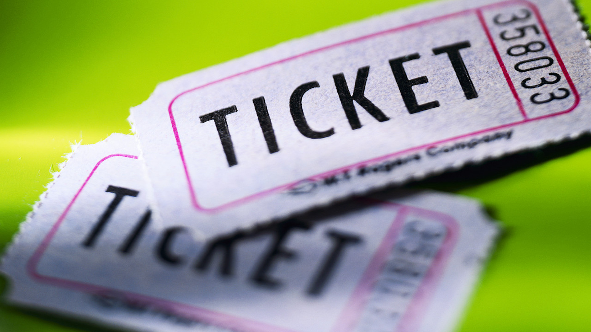 A picture of paper tickets